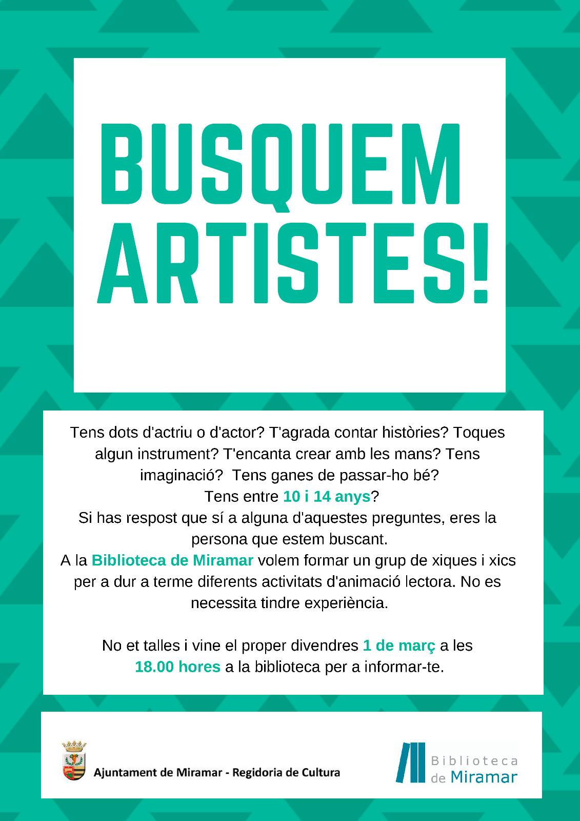 BUSQUEM ARTISTES